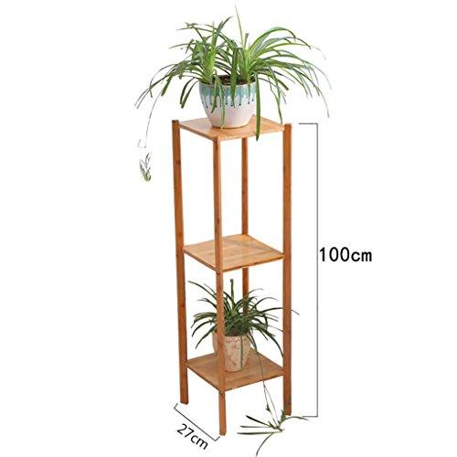 FZN Multilayer Balcon créatif Fleur Pots de Fleurs araignée charnue Bambou étage Salon de Jardin voyantes Pots de Fleurs (Taille : 27 * 27 * 100cm)