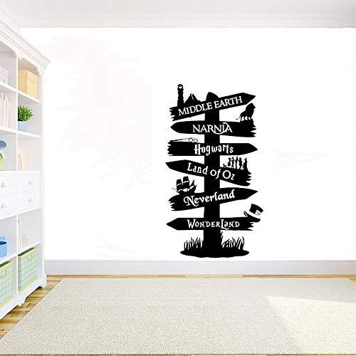 Zhuhuimin Narnia Seigneur des Anneaux référence Panneau de signalisation Vinyle Sticker décor à la Maison