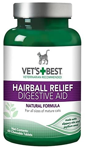 Vet¡®s Best Hairball Relief Digestive Aid, 60 Chewable