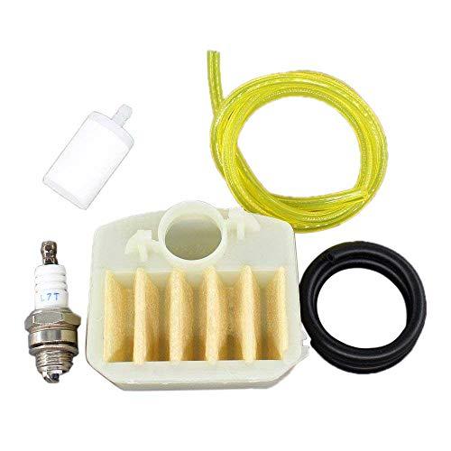 Aisen, 537024003, Filtro dell'aria, filtro della benzina, candela di accensione per motosega Husqvarna 340 345 346 346XP 350 351 353