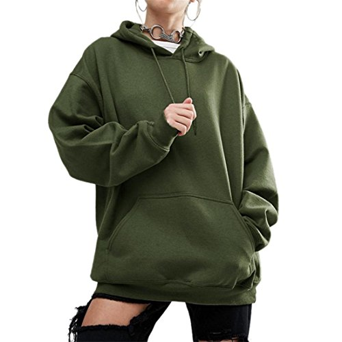 Pullover Damen Btruely Herbst Winter Hoodies Sweatsuit Beiläufig Frauen Outwear (M, Armee Grün) Armee-hoodies