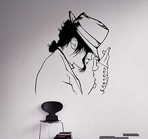 Jackson Jersey (Wandtattoo Michael Jackson Vinyl Aufkleber Pop Art Wand Art Deco Musik Home Interior Design Tanzen Street Dance Wandtattoo 57 * 63cm)
