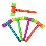 SUPVOX 5pcs bambini fischietto giocattolo bambini martello giocattolo giocattoli di plastica bambino musica hammers hildren giocattolo educativo (colore casuale)