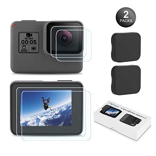 Este kit protector de pantalla para GoPro Hero 6/5 actualizado está especialmente diseñado para la GoPro hero 6/5 black. Con materiales de alta calidad y mayor tiempo de templado, dará una protección completa a tu GoPro. ¡Después de usar este kit pro...
