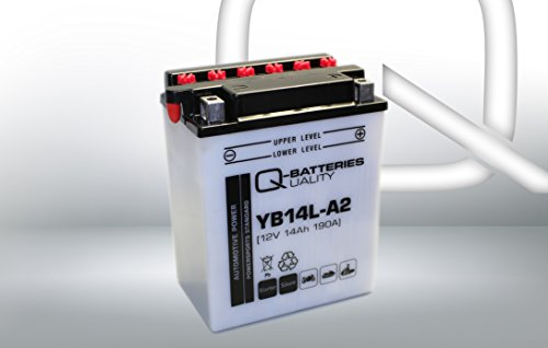 Preisvergleich Produktbild Q-Batteries Motorrad-Batterie YB14L-A2 51411 12V 14Ah 190A