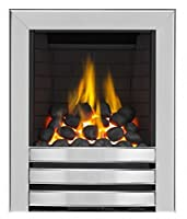 Limerick Full Depth Radiant Gas Fire - Brushed Steel