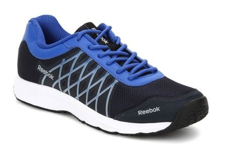 Reebok Men's Ripple Voyager Blue,Grey,White And Black Running Shoes - 10 UK