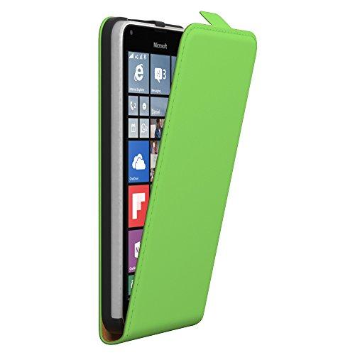 PREMIUM - Flip Case für - Nokia Lumia 535 - Wallet Cover Hülle Schutzhülle Etui Tasche Schwarz Grün (Flip)