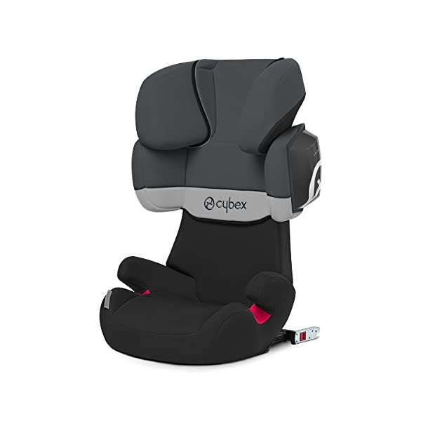 CYBEX Silver Solution X2-Fix Child's Car Seat, For Cars with and without ISOFIX, Group 2/3 (15-36 kg), From approx. 3 to approx. 12 years, Gray Rabbit Cybex Sturdy and high-quality child car seat for long-term use - For children aged approx. 3 to approx. 12 years (15-36 kg), Suitable for cars with and without ISOFIX Maximum safety - 3-way adjustable reclining headrest, Built-in side impact protection (L.S.P. System) 11-way adjustable, comfortable headrest, Adjustable backrest, Comfortable seat cushion 1