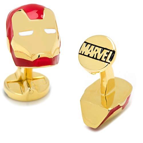 Mens Bodega Manschettenknöpfe Marvel Avengers Iron Man, Superheld, Iron Man Helm, inkl. Marvel-Geschenkbox
