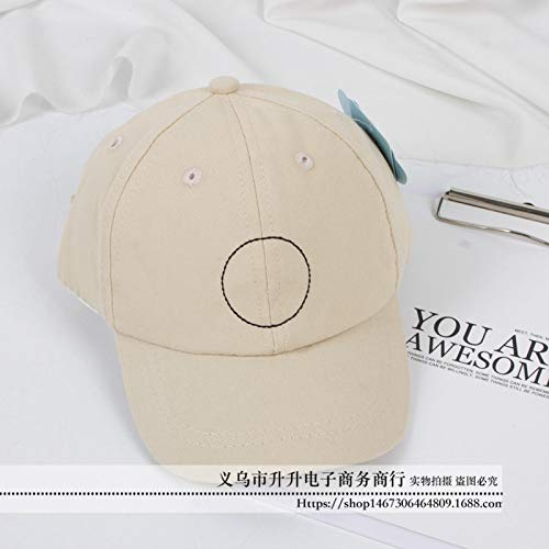 mlpnko Straßen-Baseballmütze-Baby des Jungenvisierkindes wildes Mädchen-Lichtschutzenten-Zungenhutbeige 50-52CM (Jazz Diva Kostüm)