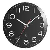 Basic Clock 90-603509.00 Funk-Wanduhr schwarz