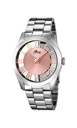 a82b7005e33a Lotus Watches Reloj Análogo clásico para Mujer de Cuarzo con Correa en  Acero Inoxidable 18122