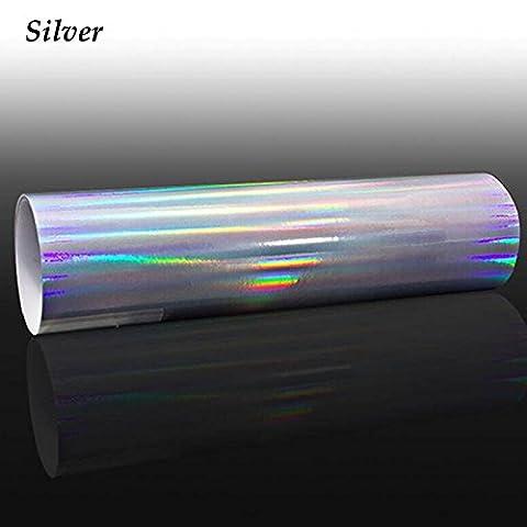 HOHO Holographisches Laser Chrom, irisierend Wrap Vinylfolie Auto Tint Aufkleber