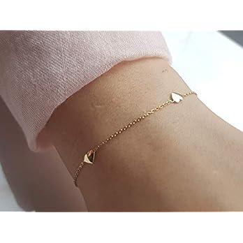 Herz II Armkette 925 silber vergoldet iz-el