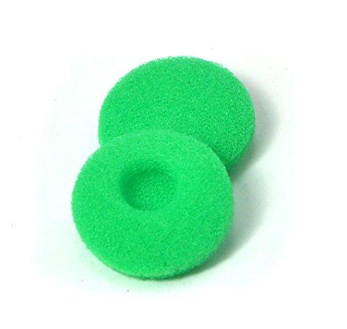12 paia (24 pezzi) di schiuma cuscinetti auricolari di ricambio spugna coperture per auricolare (verde)