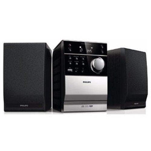 Philips MCM1120/12 Klassisches Kompaktanlage (CD, MP3-CD, USB, UKW, Kassette, 10 W) schwarz (Sirius Radio-home)