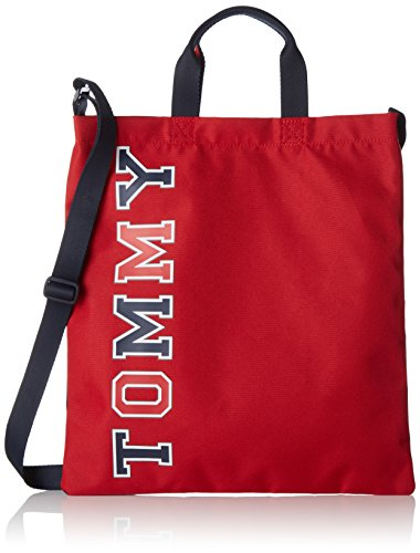 Tommy Hilfiger Jungen Kids Th Fun Shopper Tasche, Rot (Corporate), 1 x 36 x 33 cm