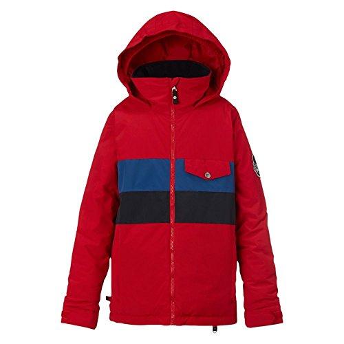 Burton giacca da snowboard da ragazzo simbolo Jacket, Ragazzo, Snowboardjacke SYMBOL JACKET, Process Red Block, (Giacca Ragazzi Sistema)