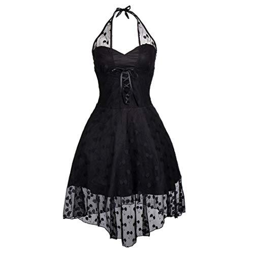 JOYOTER Damen Steampunk-Korsett, Gothic-Kleid, Netzstoff, rückenfrei, sexy Halfter Gr. 3-4Jahre, Schwarz