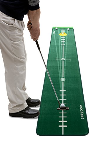 Track Putting Mat Edition 2, Medium, 300 x 50 Centimeter, Including Ballstopper, Realistic Silicone Putting-Cup, Underlay Wedges and Eraser Rod