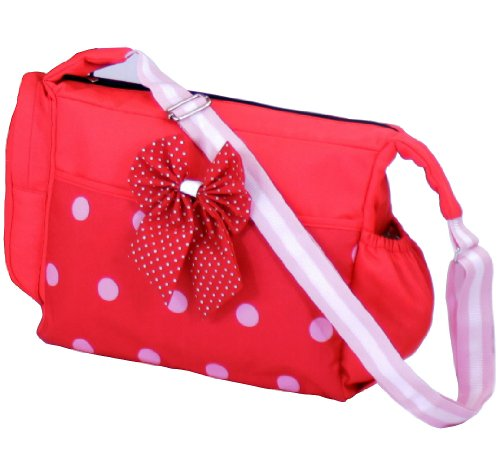 Luxury Changing Bag Complete with Changing Mat – Bow Dots 41b 2BFGvd4OL