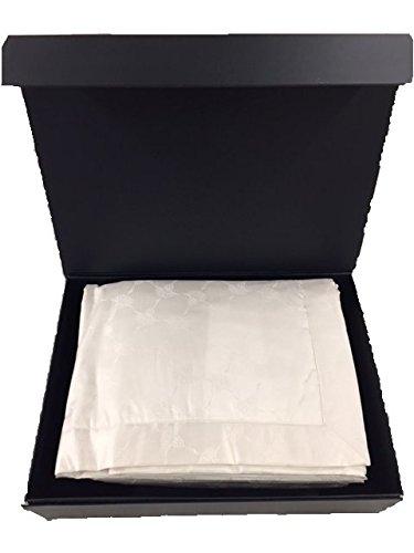 elegante Joop Cornflower allover ca. 150x210 cm Jacquard-Satin 100% Baumwolle mit Vlies versteppt - Logo gestickt (07 Natur) - Beige Logo Jacquard