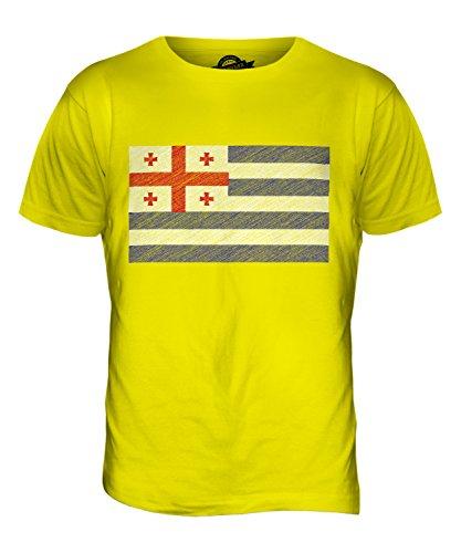 CandyMix Agiaria Bandiera Scarabocchio T-Shirt da Uomo Maglietta Giallo Limone