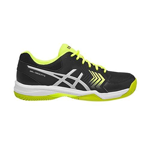 ASICS Gel-Dedicate 5 Clay, Scarpe da Tennis Uomo, Multicolore (Black/Flash Yellow 001), 43.5 EU