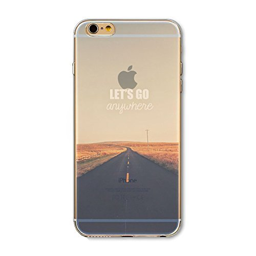 Coque iPhone 6 6s Housse étui-Case Transparent Liquid Crystal en TPU Silicone Clair,Protection Ultra Mince Premium,Coque Prime pour iPhone 6 6s-Paysage-style 1 5