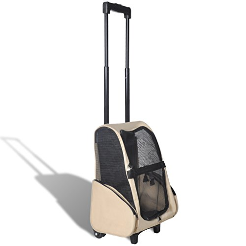 vidaXL Hundetrolley Transporttasche Tragetasche Trolley Hund Katze Rucksack faltbar