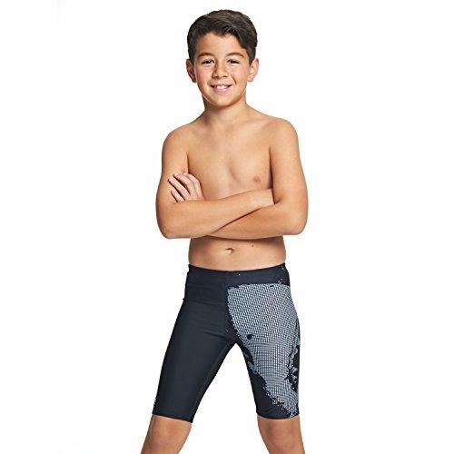 Zoggs Jungen Badehose Shark Jammer 12-13 Jahre schwarz (Swim Shark Trunks)