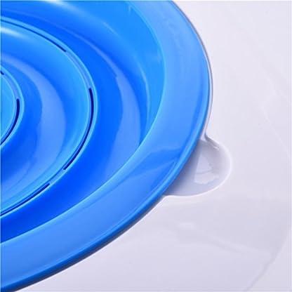 UEETEK Pet Toilet Training Seat for Cats Potty Training Tray Cats Kit (Blue) 8