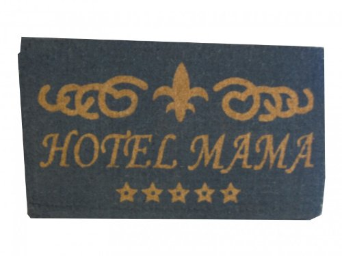 Mars & More Fußmatte Kokos mit Motiv Hotel Mama
