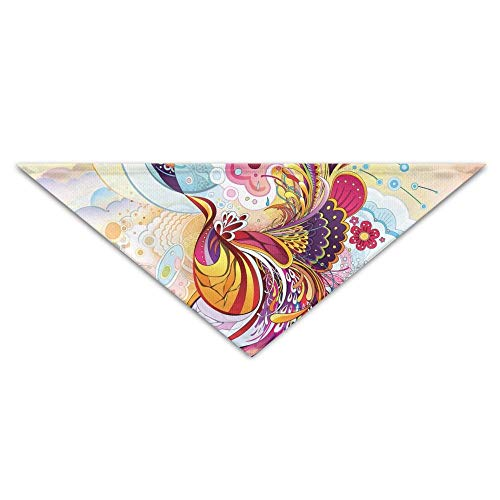 Tail Kostüm Peacock - Gxdchfj Abstract Peacock's Tail Triangle Pet Scarf Dog Bandana Pet Collars for Dog Cat - Birthday