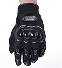 Toogoo - Guantes de protección para moto (talla L, unisex)