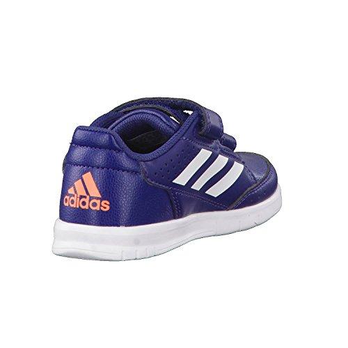 adidas Altasport CF, Baskets Garçon bleu indigo/blanc/orange
