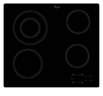 Whirlpool AKT813NE Tables de Cuisson Induction 4 Foyers 230 V Noir