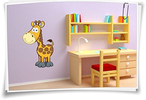 Preisvergleich Produktbild Wandtatto Sticker Wandaufkleber Wandtattoo Kinderzimmer Aufkleber Kindername Baby Giraffe, Größe 2