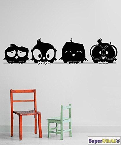 Angry Birds Vögel auf Wäscheleine Wandtattoo ca 40 x 80 cm Hobbyaufkleber Dekoaufkleber Aufkleber Decal von SUPERSTICKI® aus Hochleistungsfolie geplottet,freigestellt ohne Hintergrund für alle glatten Flächen UV und Waschanlagenfest Profi Qualität (Angry Bird-auto-aufkleber)