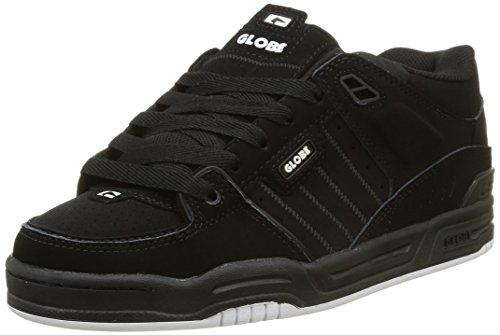 Globe Fusion, Unisex-Erwachsene Skateboardschuhe, Schwarz (Black/Black/White), 48 EU (13 Erwachsene UK) (13 Schuhe Fusion)