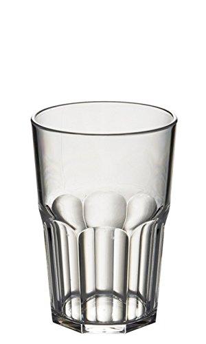 Avenue 6 Stück, bruchsicher, wiederverwendbar, aus Polycarbonat, Kunststoff-Trinkbecher, achteckig, 428 ml, Höhe 12 cm, maximaler Durchmesser 8,5 cm - 2