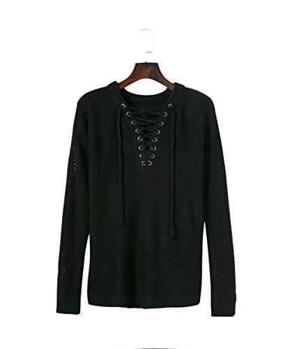 COCO clothing - Pull de sport - Cache-cœur - Femme Noir