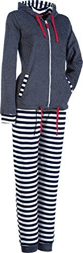 Normann Freizeitanzug Frottee dunkelblau/weiß Größe 36 / 38 (Damen-frottee-trainingsanzug)