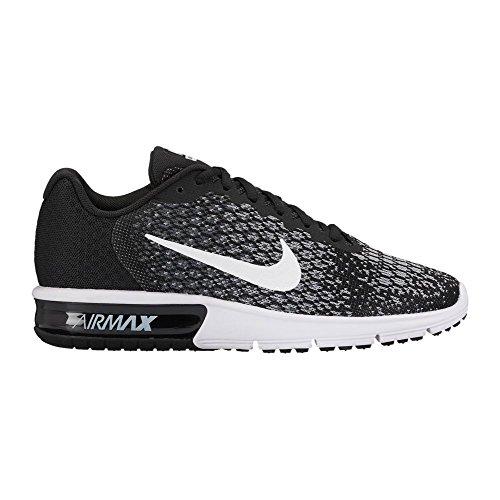 Nike Wmns Air Max Sequent 2, Scarpe da Ginnastica Donna Nero/Bianco