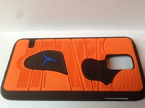 47f643dc3af88 Domms Jordan Teléfono Móvil Samsung S5 Naranja de Negro Phone Case NBA