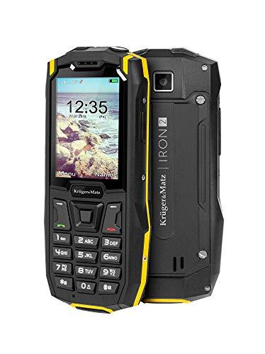Krüger & Matz km0459Iron 2Teléfono Móvil para Exteriores 6.09cm (2,4Pulgadas) QVGA Dual SIM, IP68Muy Resistente, 32GB Negro/Amarillo