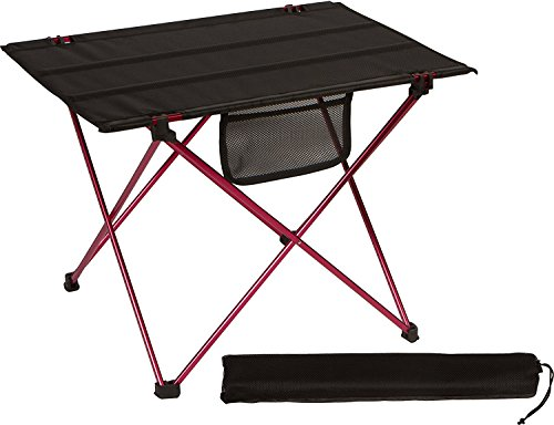 ng Klapptisch, Portable Picknicktisch Falten aufrollen Tische mit Tragetasche für Camping Reisen Strand Picknick Outdoor-Aktivität (S-Red) ()