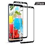 Miuphro Protector de Pantalla para Samsung Galaxy S8 Plus, [2 Pack] 99.9% Alta Definición, Cobertura Completa Cristal Templado, Terminador de Scratch, Sin Burbuja,9H Dureza Protector de Pantalla
