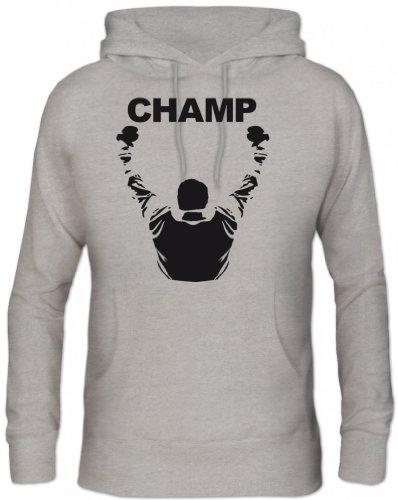 Shirtstreet24, CHAMP, Boxen Boxer Kapuzen Sweatshirt - Pullover S-3XL , Größe: L,Graumeliert -